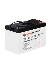 OmniPower OPR 120Ah 12V Sealed AGM GEL Hybrid VRLA Solar Battery