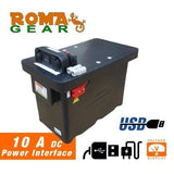 RomaGear Portable Universal Battery Box With USB Solar Ready