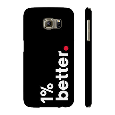Black Phone Case 1% Better for samsung galaxy S6