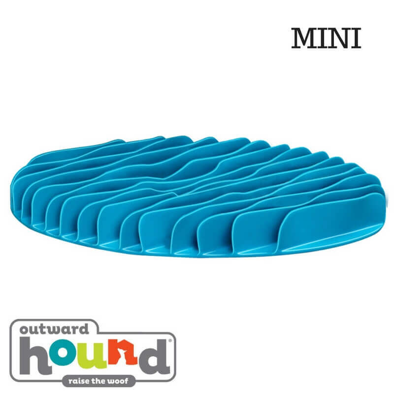Outward Hound Fun Feeder Slow Feed Mat Blue Mini