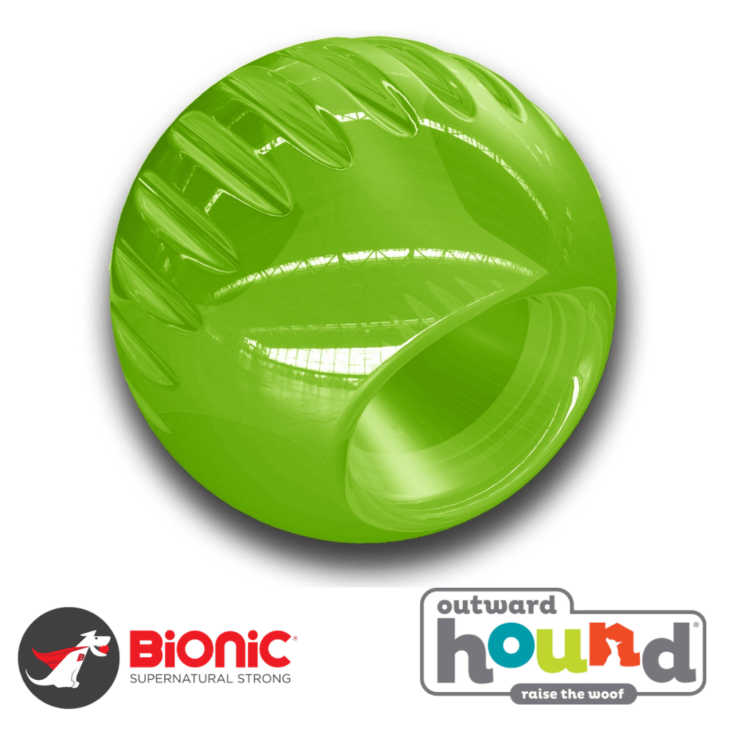 Outward Hound Bionic Tough Ball Green Tough Dog Toy