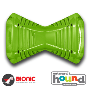 Outward Hound Bionic Urban Bone Tough Dog Toy Green