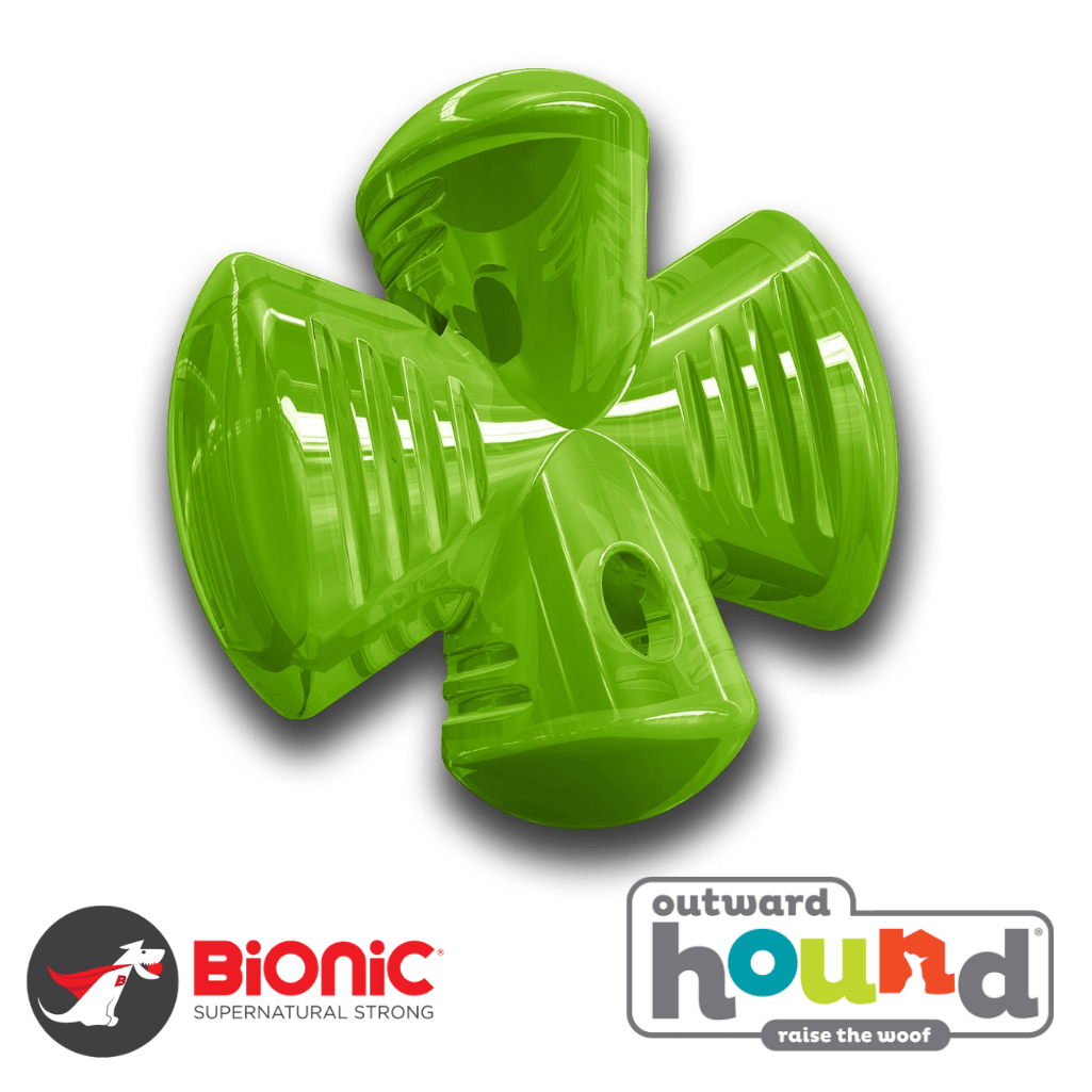 Outward Hound Bionic Urban Stuffer Tough Dog Toy Green