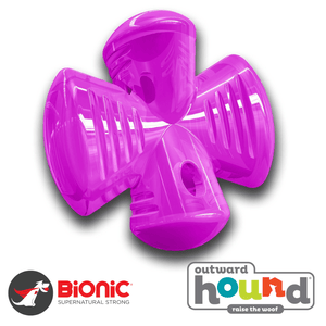 Outward Hound Bionic Urban Stuffer Tough Dog Toy Purple