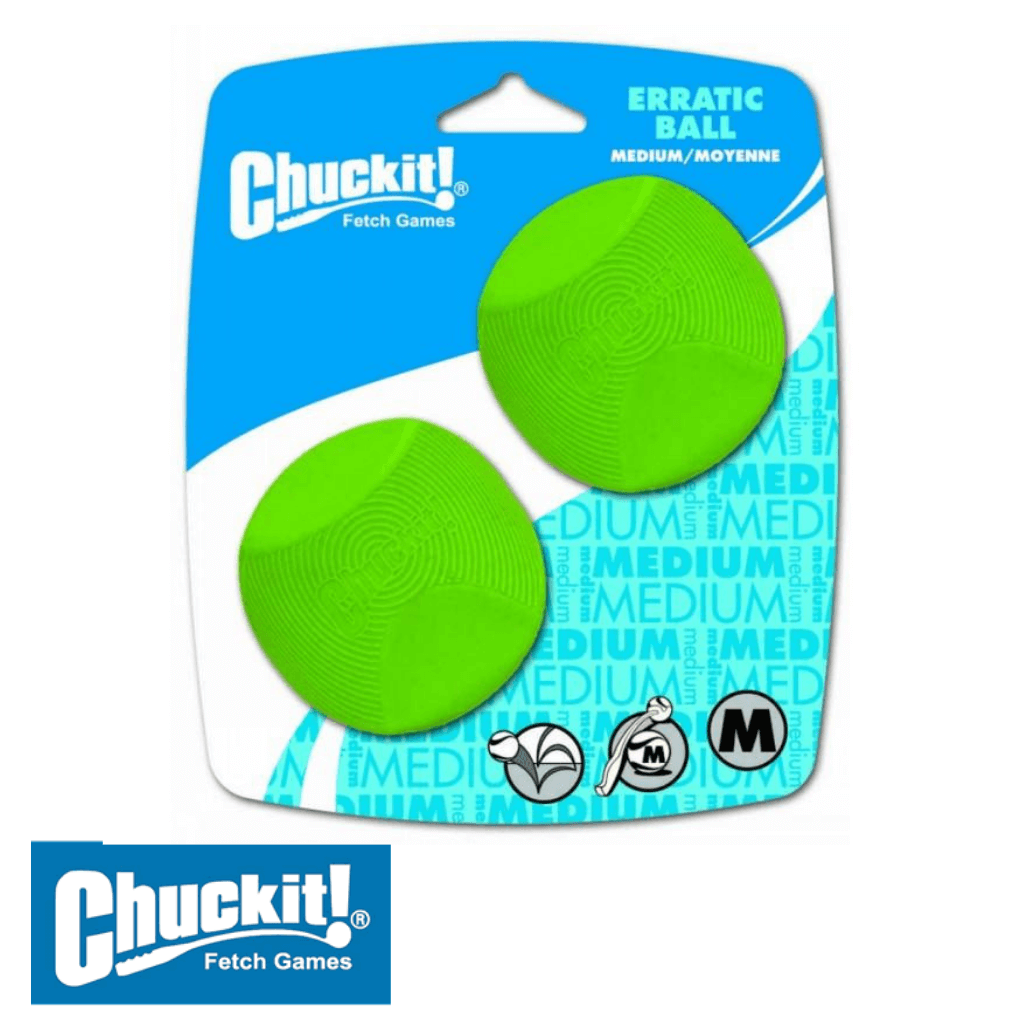 Chuckit! Erratic Ball Medium 2 Pack | Chuckit! Australia Dog Toys
