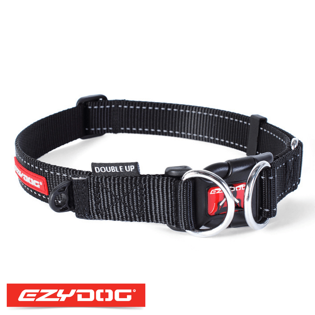 EzyDog Double Up Dog Collar Black