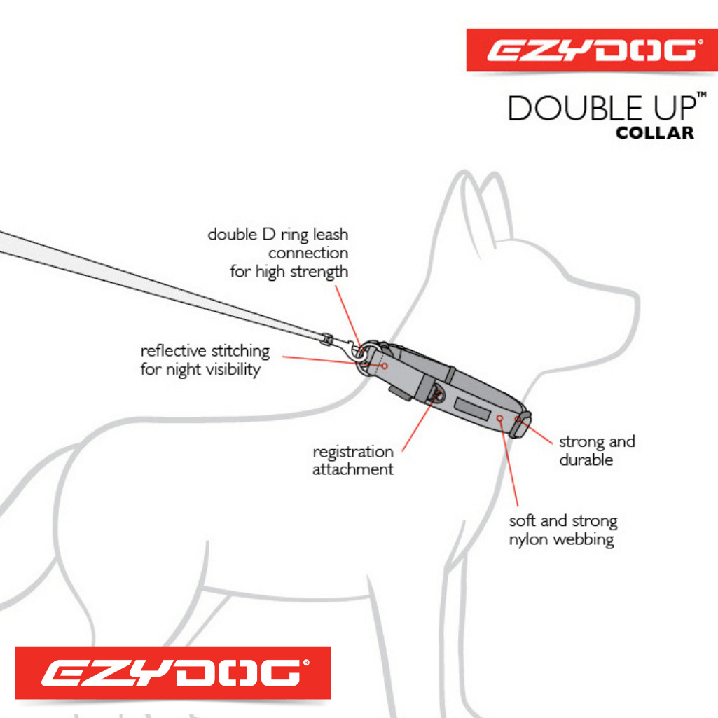 EzyDog Double Up Dog Collar Diagram EzyDog Collar Australia