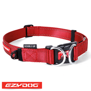 EzyDog Double Up Dog Collar Red