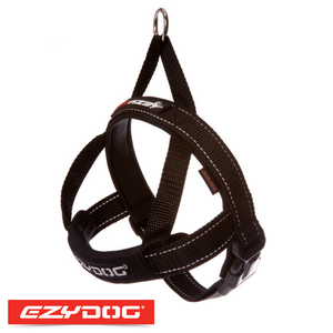 EzyDog Quick Fit Harness Black