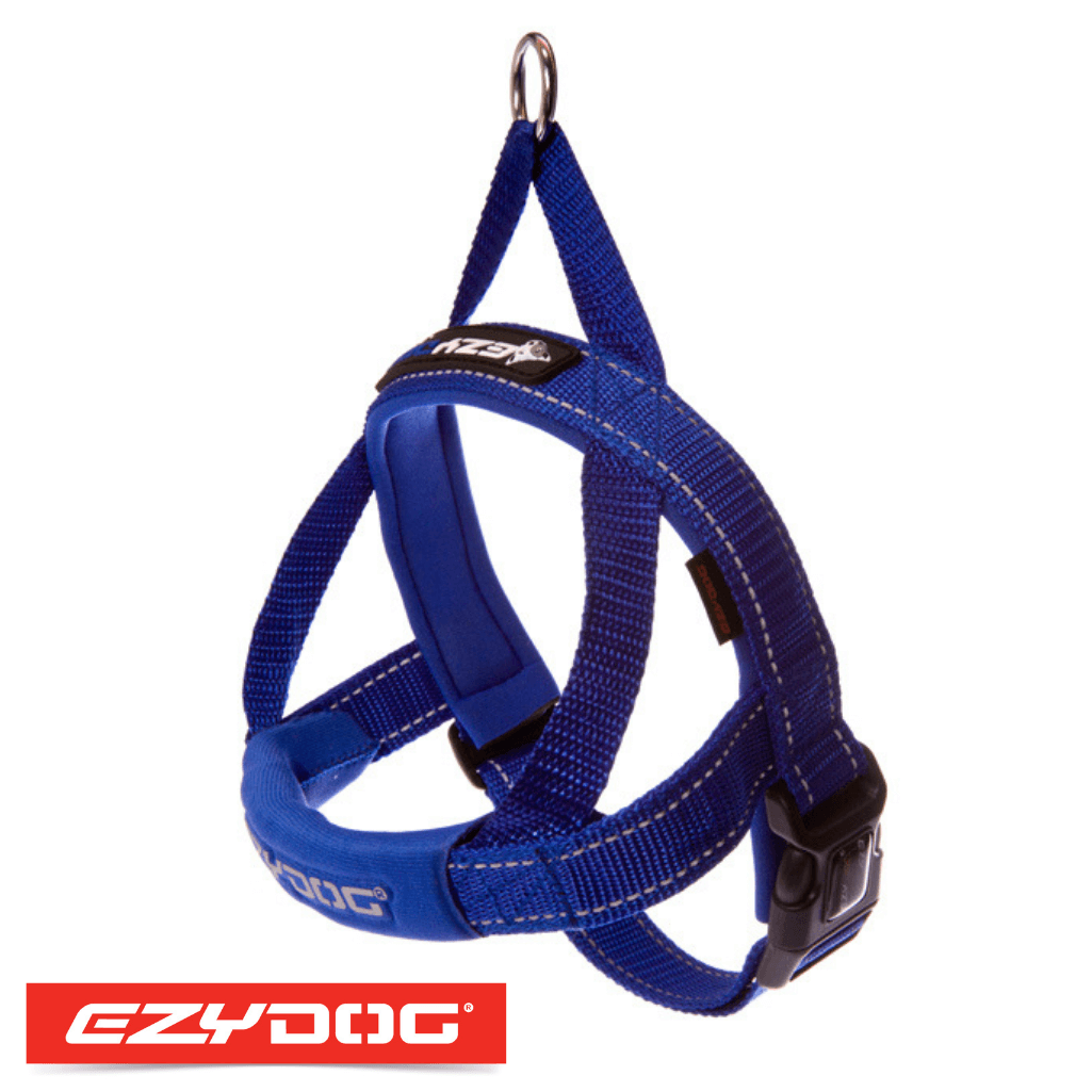 EzyDog Quick Fit Harness Blue