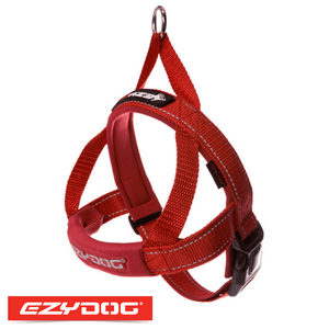 EzyDog Quick Fit Harness Red