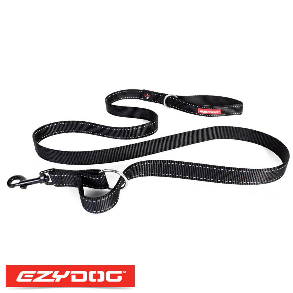 EzyDog Vario 4 Black Ezydog Dog Leash