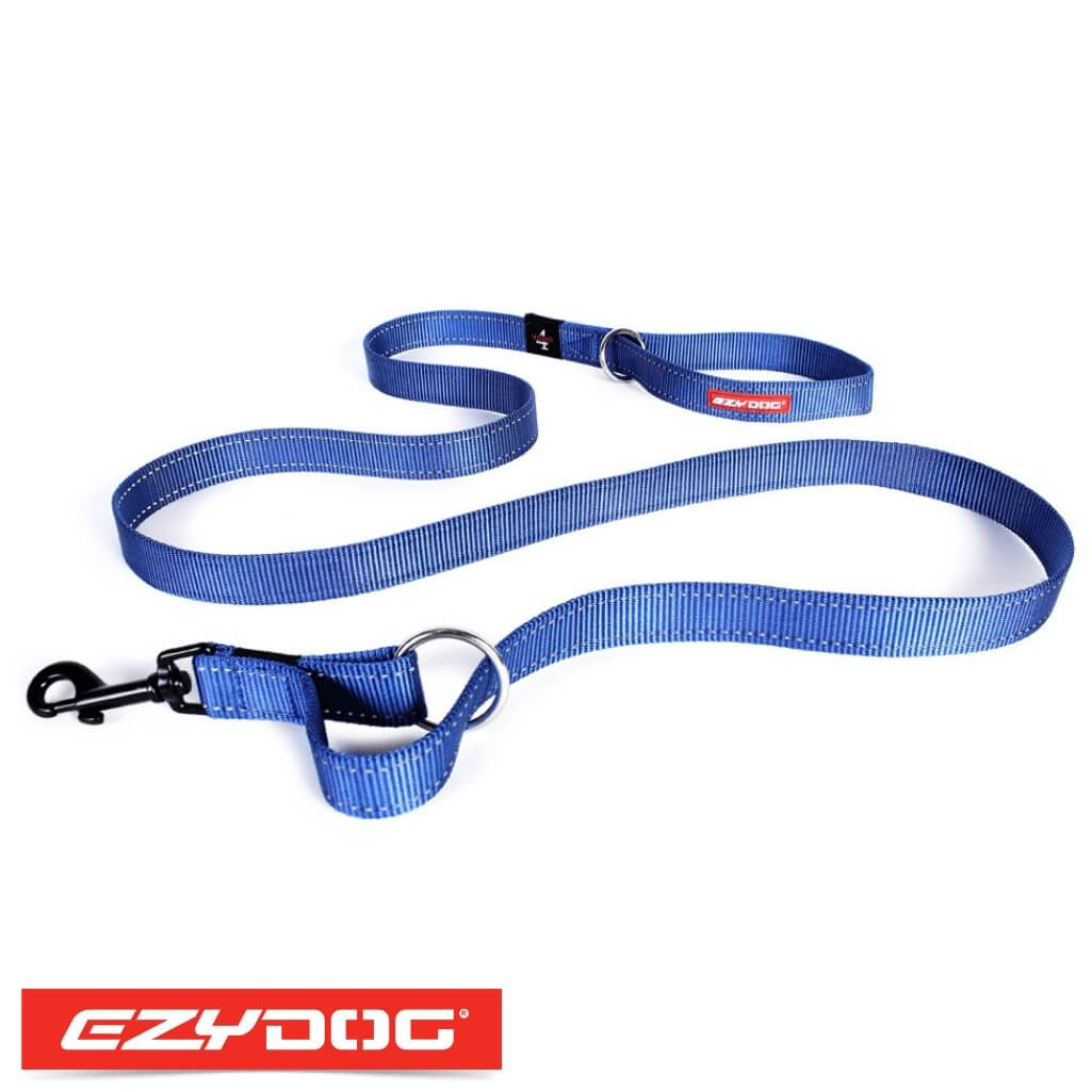 EzyDog Vario 4 Blue Ezydog Dog Leash