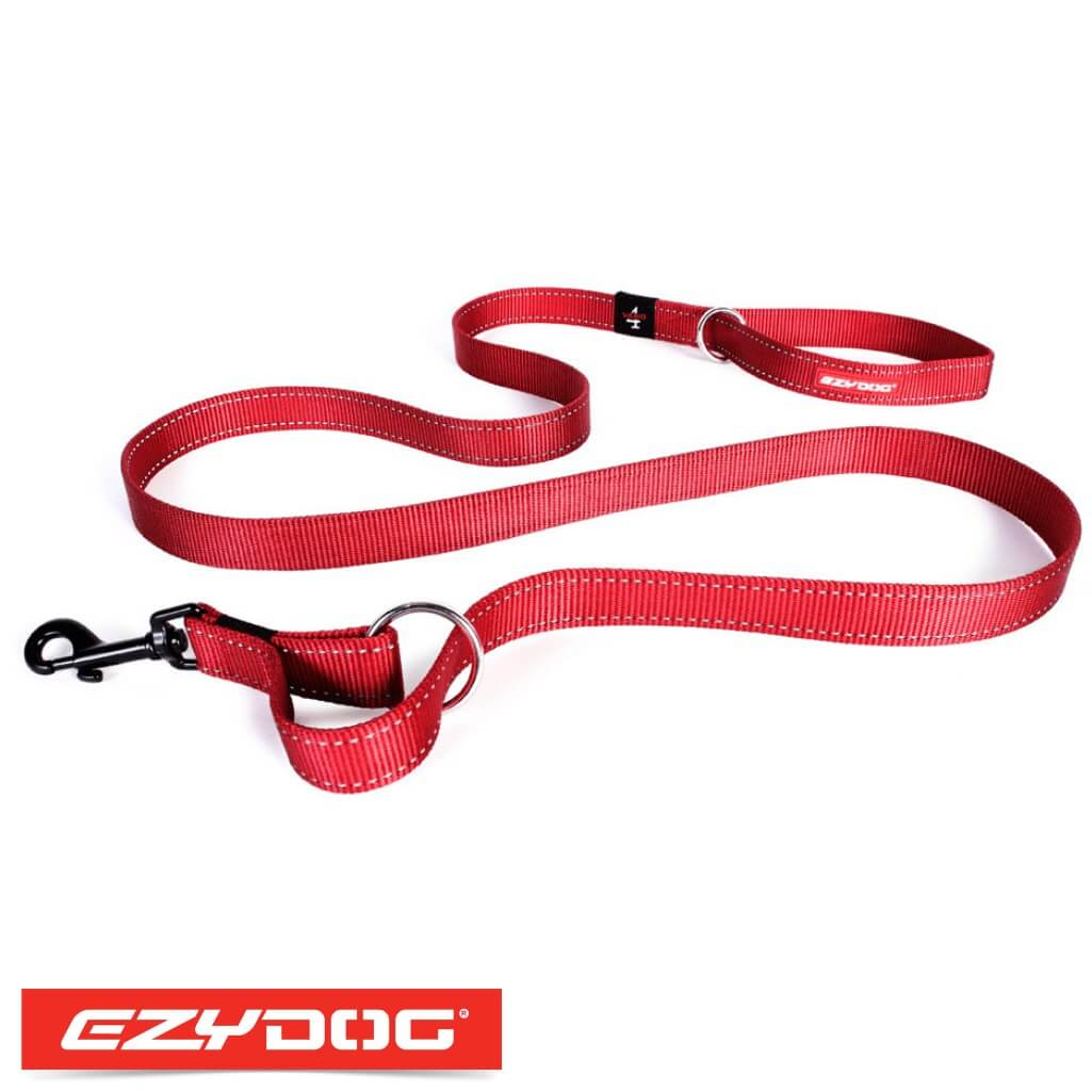 EzyDog Vario 4 Red Ezydog Dog Leash