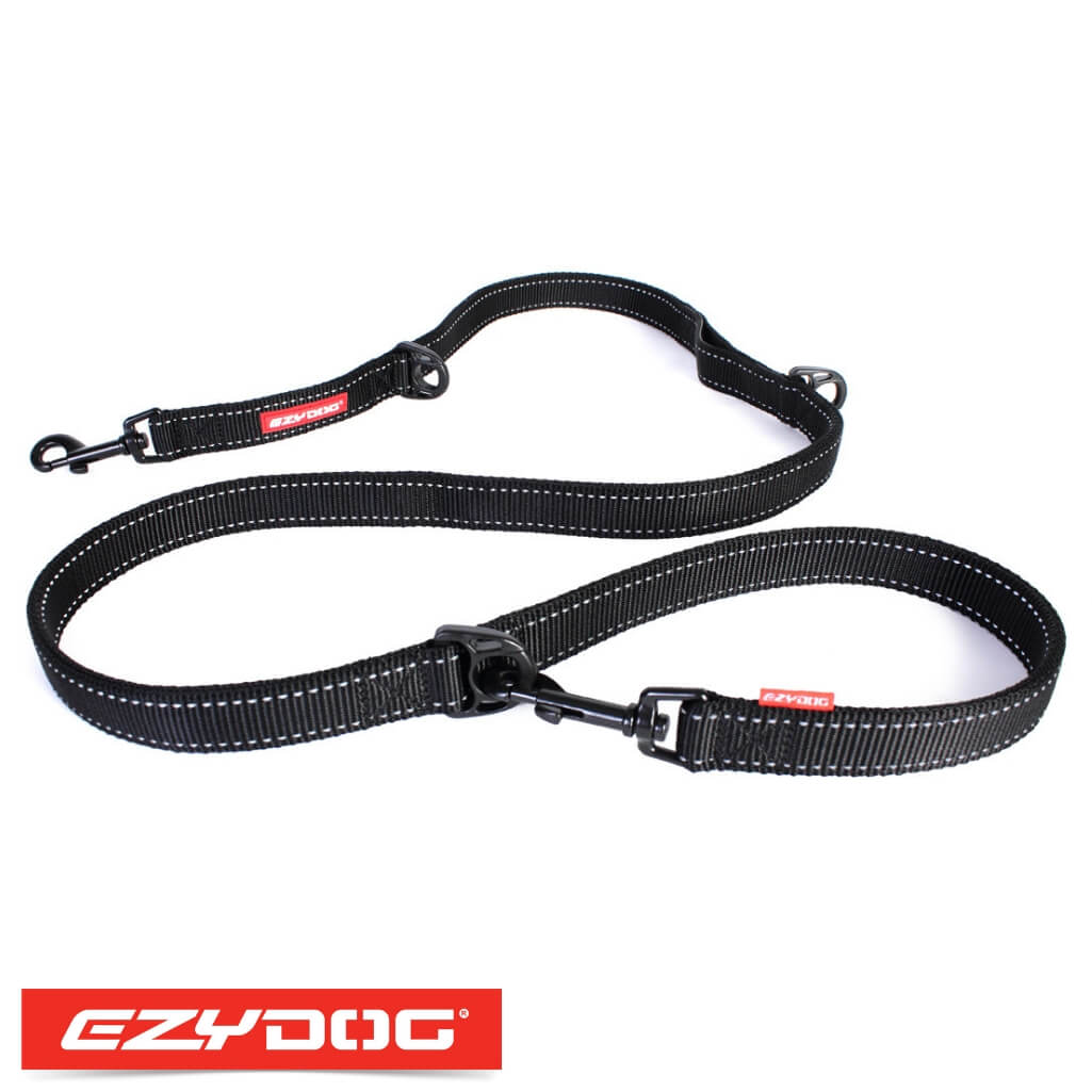 EzyDog Vario 6 Black Ezydog Dog Leash