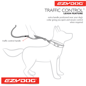 EzyDog Zero Shock Leash Diagram | EzyDog Australia
