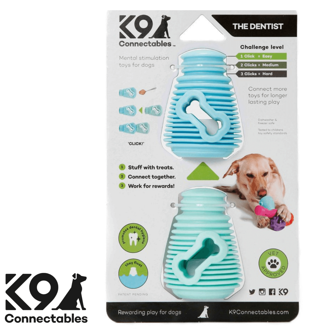 K9 Connectables Australia - The Denist Blue Teal