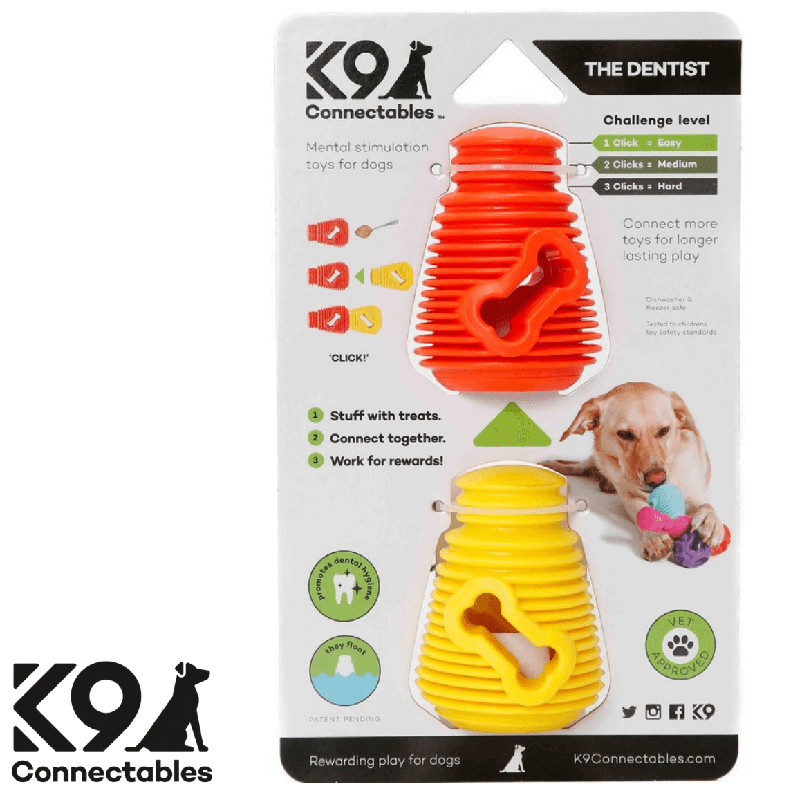 K9 Connectables Australia - The Denist Orange Yellow