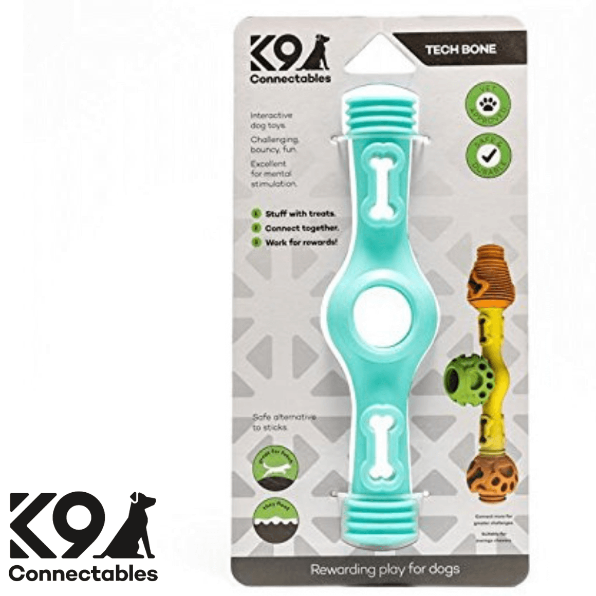 k9 Connectables Australia - The Tech Bone Green