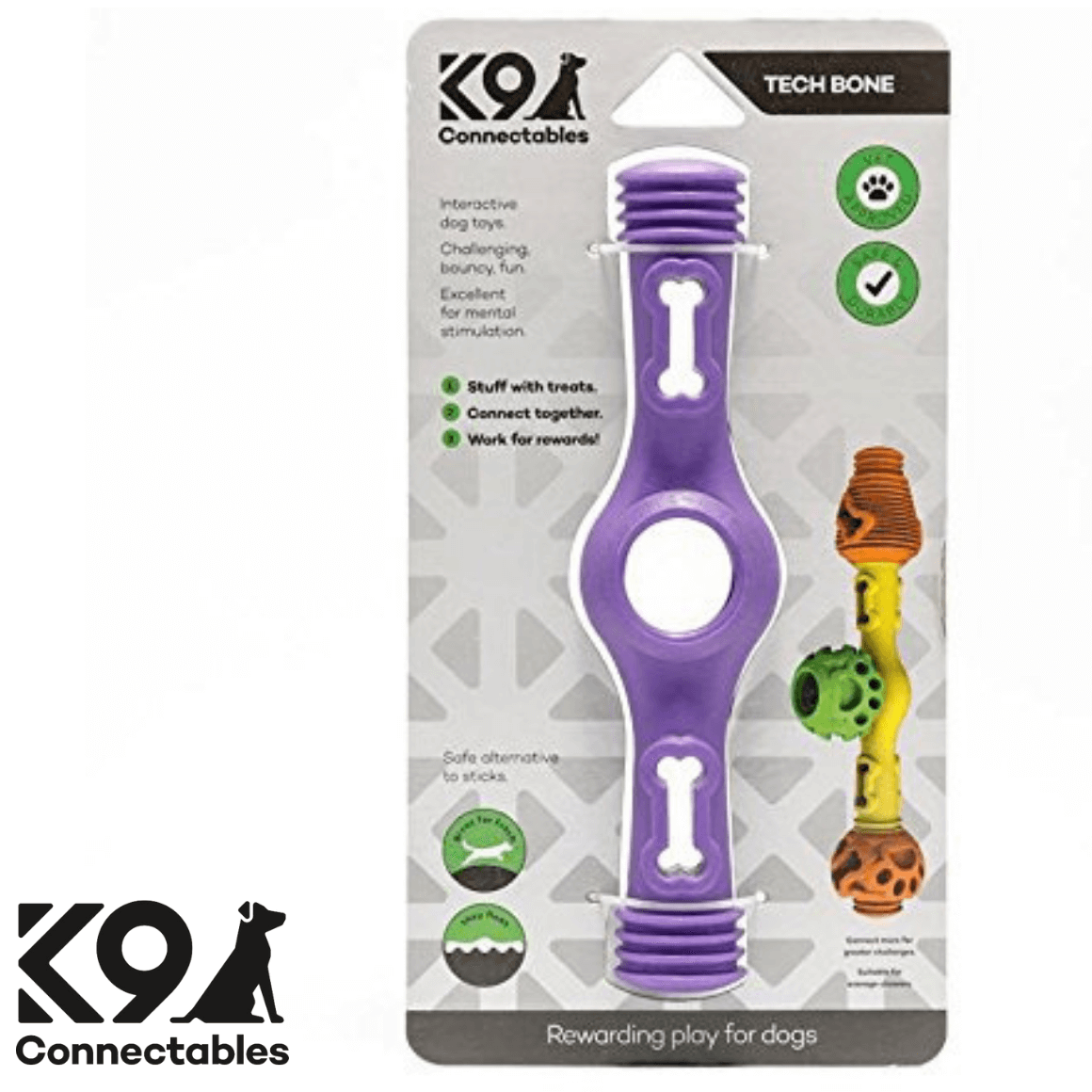 k9 Connectables Australia - The Tech Bone Purple