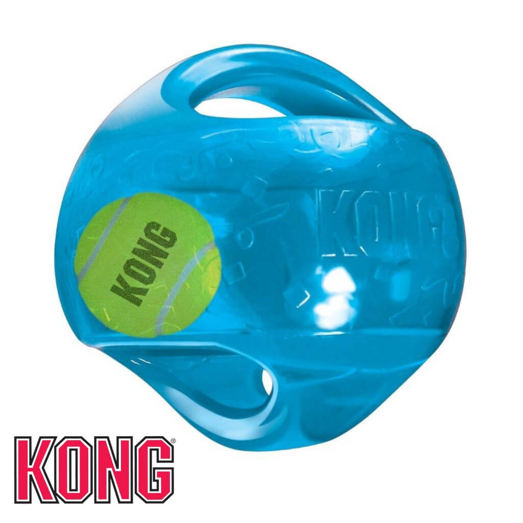 KONG Jumbler Ball Dog Toy Blue KONG Dog Toys Australia