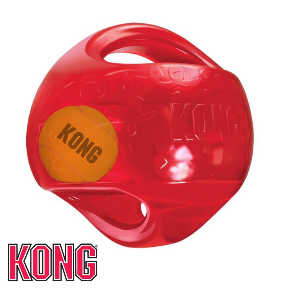 KONG Jumbler Ball Dog Toy Red KONG Dog Toys Australia