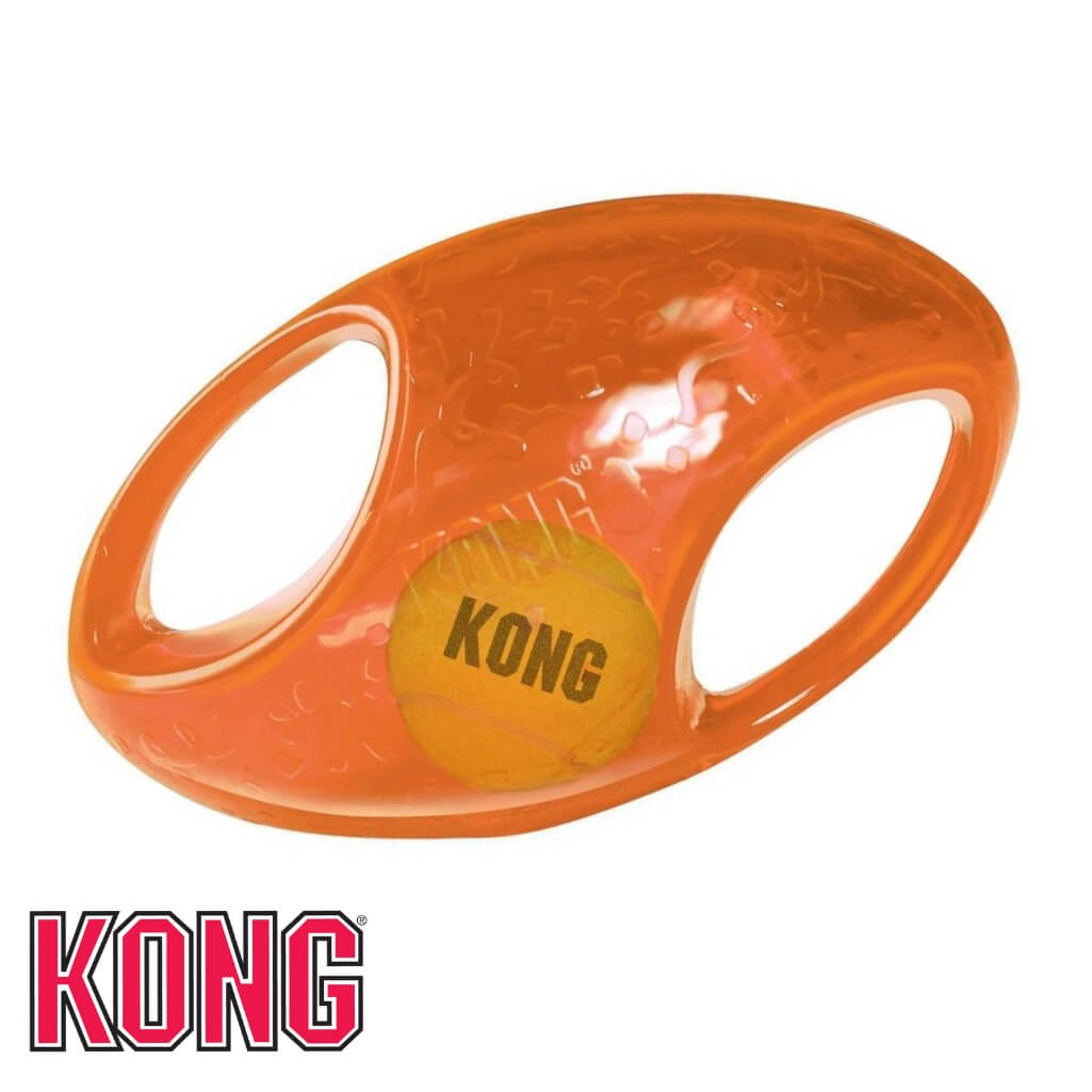 KONG Jumbler Football Dog Toy Orange KONG Dog Toys Australia