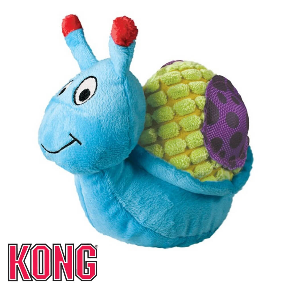 Kong Picnic Patches Snail Plush Dog Toy