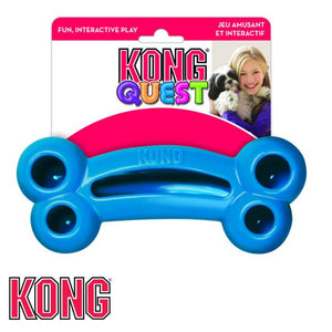 KONG Quest Bone Treat Dispensing Dog Toy Blue