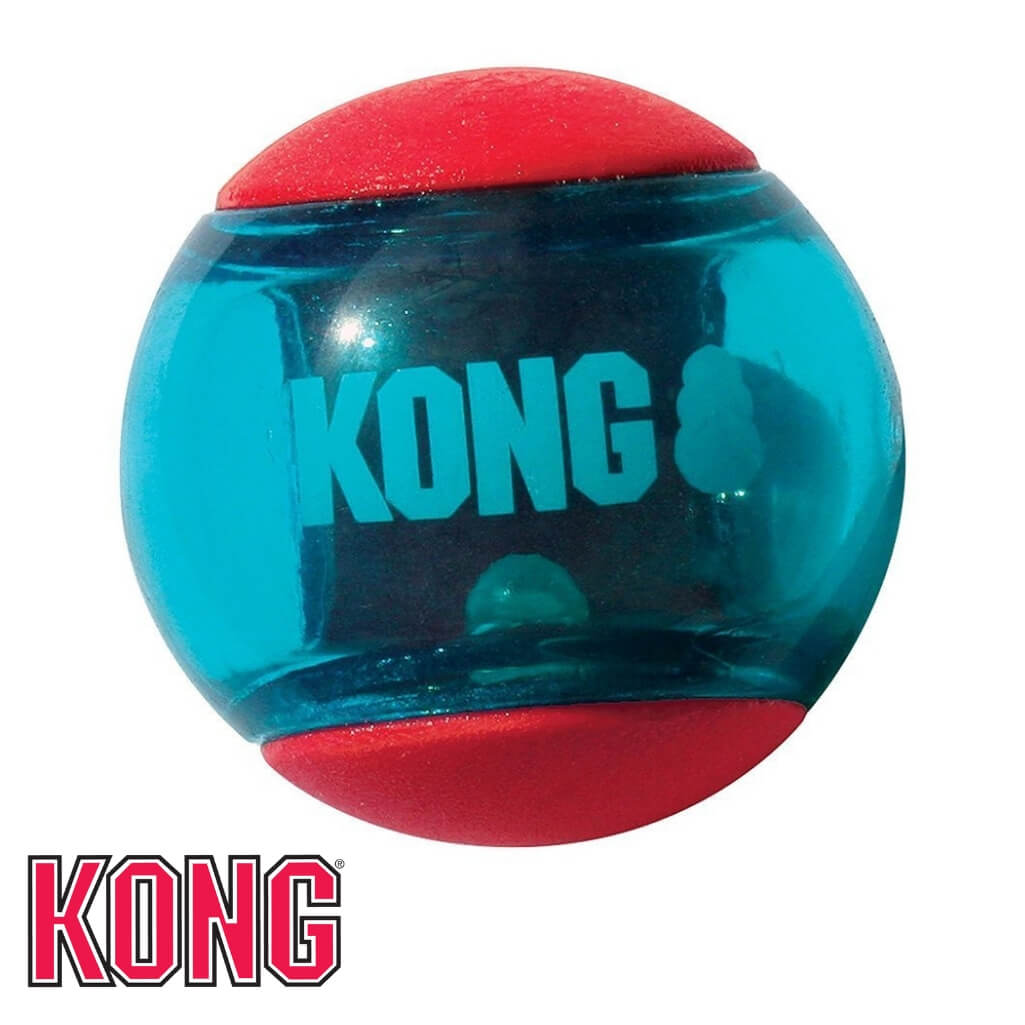 KONG Squeezz Action Rubber Ball KONG Dog Toys Australia