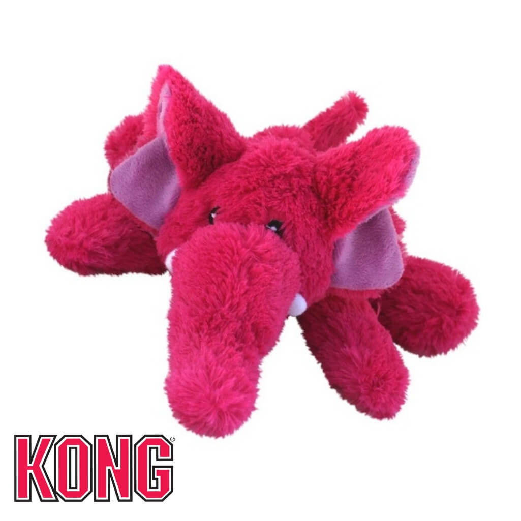 Kong Cozie Elephant Plush Dog Toy