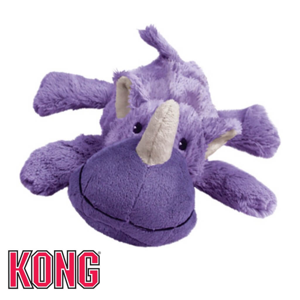 Kong Cozie Rosie Rhino Plush Dog Toy