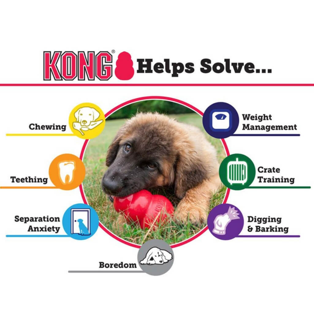 Kong Helps Solve Diagram | Kong Dog Toys Australia