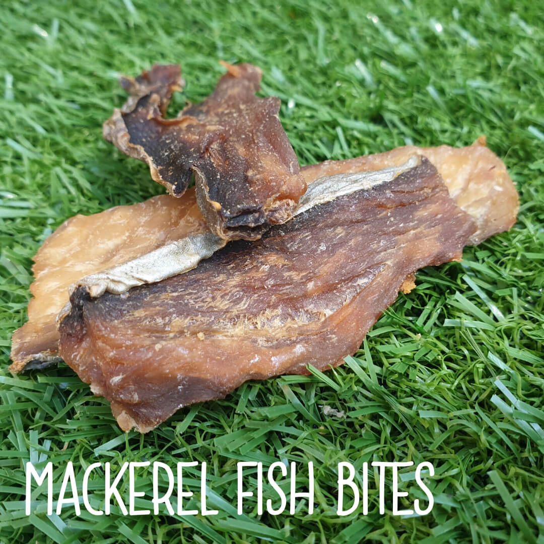 Natural Dog Treats - Mackerel Fish Bites