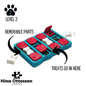 Nina Ottosson Dog Brick Interactive Treat Dispenser Dog Toy