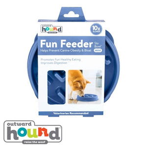 Outward Hound Fun Feeder Slow Feed Dog Bowl - Notch Design