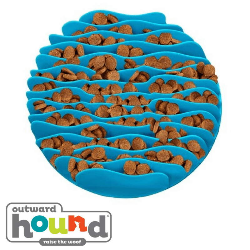 Outward Hound Fun Feeder Slow Feed Mat Blue Large
