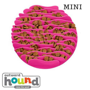 Outward Hound Fun Feeder Slow Feed Mat Pink Mini