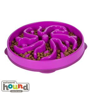 Outward Hound Fun Feeder Slow Feed Dog Bowl Flower Large