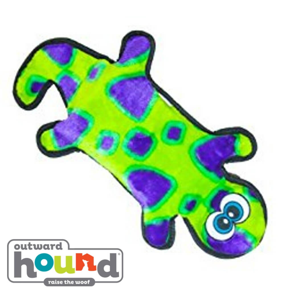Outward Hound Gecko 4 Squeak Green/Purple