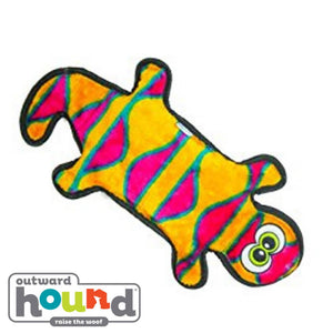 Outward Hound Gecko 4 Squeak Orange/Pink