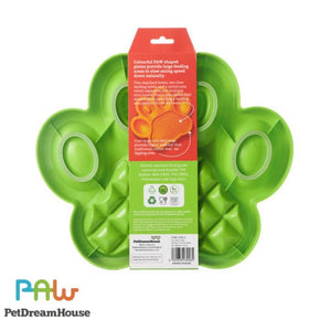 PAW 2-in-1 Slow Feeder & Anti-Anxiety Food Lick Pad and Bowl Combo - Green