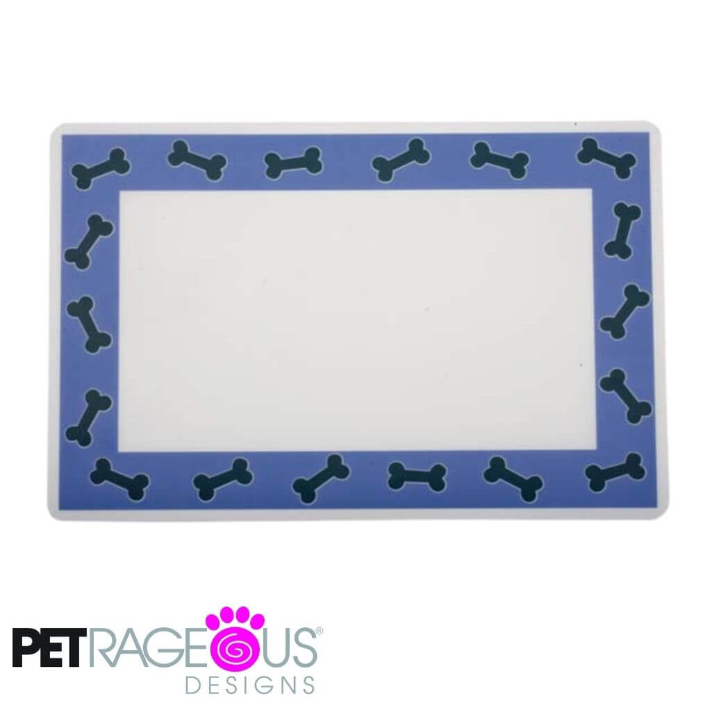 Petrageous Dog Placemat - Blue Bones