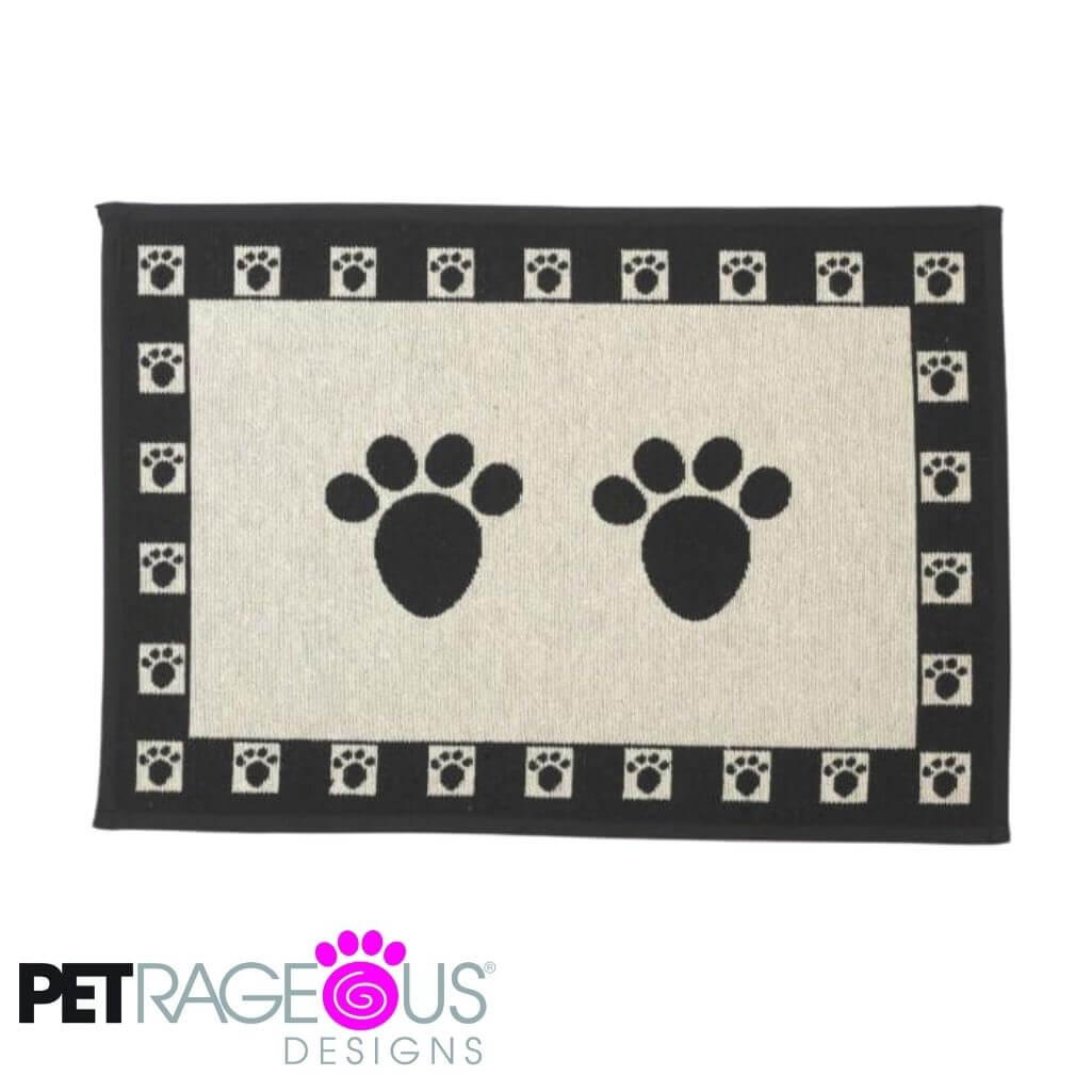 Petrageous Tapestry Paws Non-Skid Dog Placemat