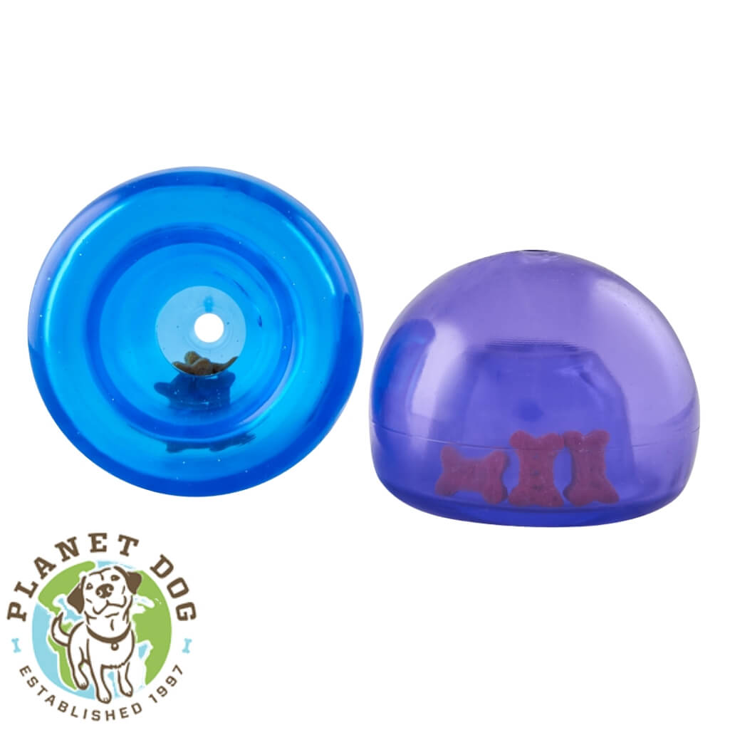 Planet Dog Orbee-Tuff Lil Snoop Interactive Dog Toy Royal Blue and Purple