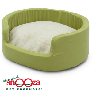Snooza-buddy-bed-avocado-woolly
