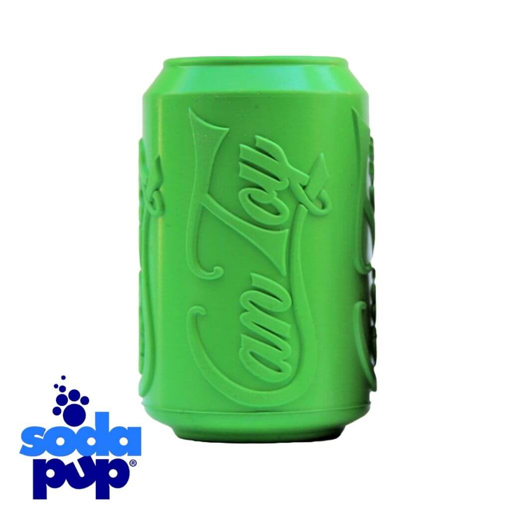 SodaPup Green Can Toy Treat Dispenser Tough Dog Toy