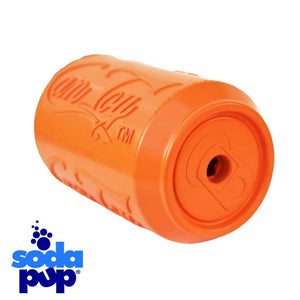 SodaPup Orange Can Toy Treat Dispenser Tough Dog Toy