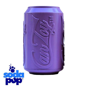 SodaPup Purple Can Toy Treat Dispenser Tough Dog Toy