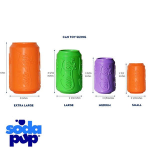 SodaPupCan Toy Range Treat Dispenser Tough Dog Toy